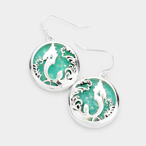 Sea World Glitter Sea Glass Mermaid Earrings